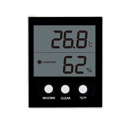 CWC Termómetro de Interior, inalámbrico Digital termómetro higrómetro,...