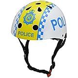 Kiddimoto Police Medium - Casco de ciclismo infantil para bicicleta BMX, color multicolor ( 53 - 58 cm )