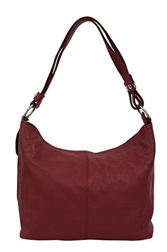 AMBRA Moda, Borsa a spalla donna M rosso scuro