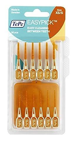 TePe Easy Pick Interdental Brush, Orange, Size: XS/S , Pack of 1 x 36