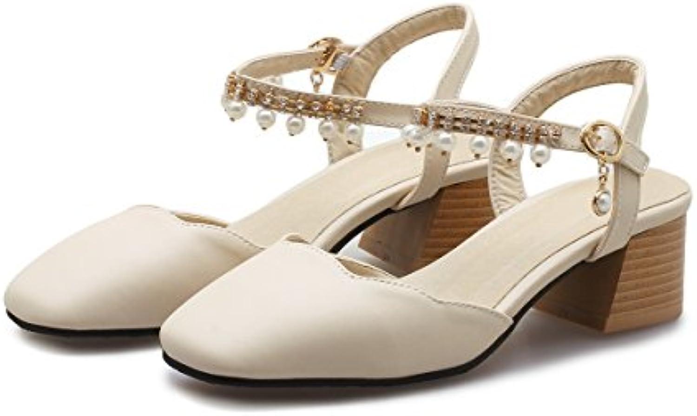 MEI&S Donna Tacco Tacco Tacco Basso Cinturino alla Caviglia Sandali | Lavorazione perfetta  dfc62b