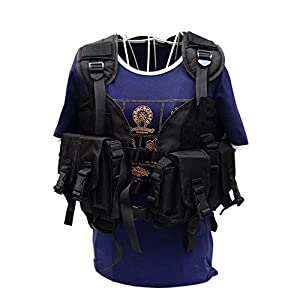 DYHQQ Tactical Vest Military Airsoft Paintball Weste Assault SWAT Weste Einstellbare Leichte