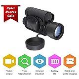 LESHP - Dispositivo de visión nocturna HD digital, 6x 50mm, alcance de 350 m, vídeo de 720p, foto de 5 mp, zoom quíntuple, cámara para observación, búsqueda y rescate, caza, show nocturno, golf, senderismo, observación de aves y paisajes