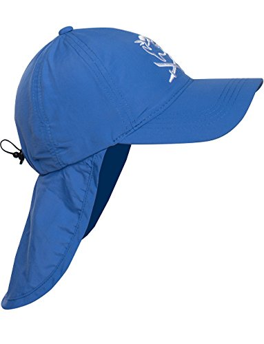 iQ-Company Kinder Cap IQ UV 200 Kids und Neck Jolly Fish, Blau (Dark-Blue), Gr. 50-55cm -
