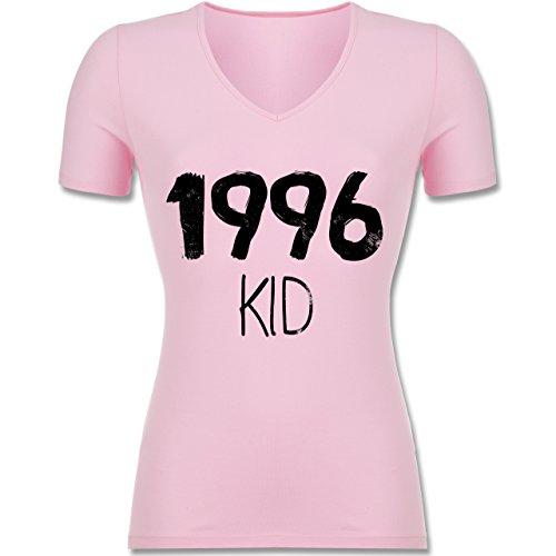 Geburtstag - 1996 KID - Tailliertes T-Shirt mit V-Ausschnitt für Frauen Rosa
