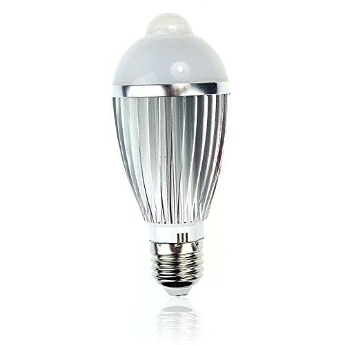 18LED A Lampe, in Kolbenform Bewegung Ssteuerung PIR-Sensor, Nicht dimmbar, 9 Watt, 85V-220V, 1er-Pack (220v Motion-sensor-schalter)