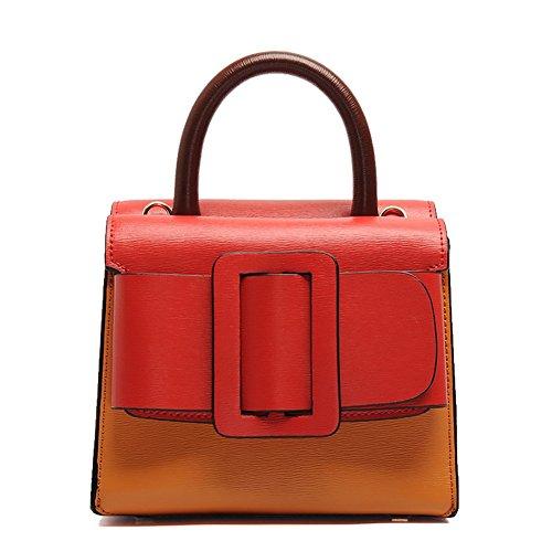 Mena UK Retro Fashion Retro Fashion entrambi i lati della scuola con la cinghia di spalla ( Colore : 5# , dimensioni : 20.5cm*17cm*15cm ) 3#
