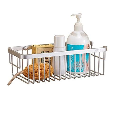 Space aluminum bathroom basket racks/Wall hanging storage basket/Single bathroom storage rack shelf