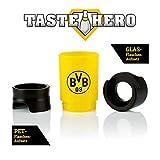 Taste Hero BVB Flaschenaufsatz für Bier 1er Set | Borussia Dortmund Fan Bier-Aufbereiter, wie frisch gezapft, macht jede Bierflasche zum Zapfhahn | Für Glas- und PET-Flaschen, spülmaschinengeeignet