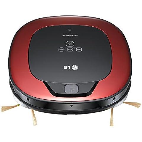 LG HomBot Square VR64607LV - Robot aspirador para casas con obstáculos, color rojo y negro