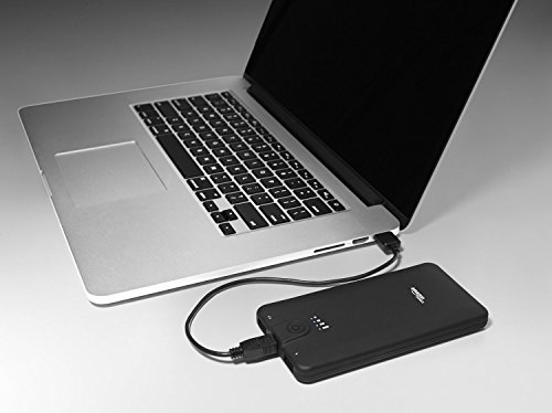 AmazonBasics Powerbank Externes Akkuladegerät, tragbar, 10.000 mAh