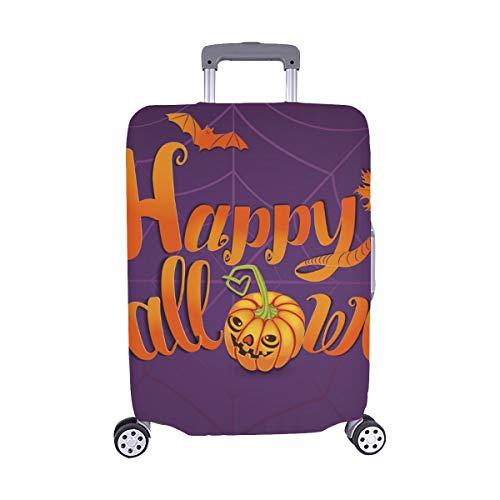 Happy Halloween Grußkarte Banner Handmade Spandex Staubschutz Trolley Protector case Reisegepäck Beschützer Koffer Cover 28,5 X 20,5 ()