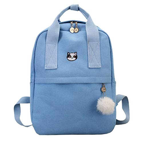 (Schulrucksack Maedchen,Sonnena Mädchen Damen Schulrucksack Rucksäcke Schulranzen Schultasche Tasche Travel Sport Outdoor Rucksack für Schüler (Blau))