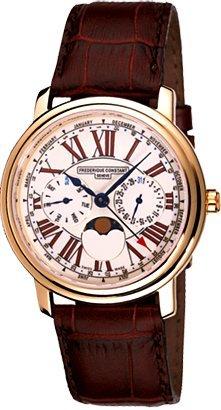 Herren Analog Quarz Uhr mit Leder Armband FC-270EM4P5 ()
