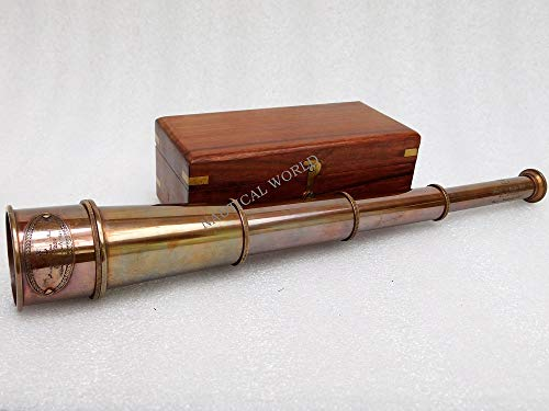 Messing-Teleskop, 43 cm, Spyglas...