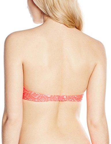 New Look Damen Bikinioberteil Contrast Crochet Underwire Pink (Fushia)