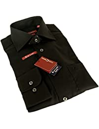 Casa Moda Langarm Slim Line Hemd 100% Baumwolle TAILLIERT schwarz