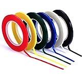 LEEQ 6 Stück 3 mm Breite Grafik Chart Tape Raster Art Tape Marking Tapes Whiteboard Rasterband selbstklebend Tape 6 Farben