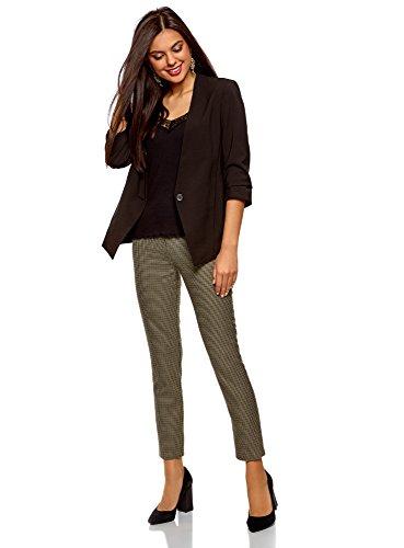 oodji Ultra Donna Pantaloni Stretti con Zip Laterale Beige (3329C)