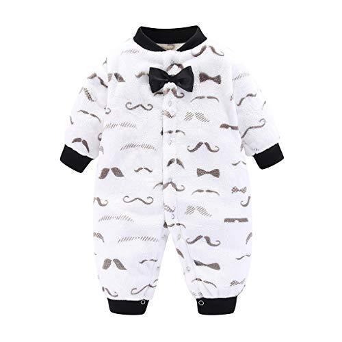 LEXUPE Baby Fleece-Overall, atmungsaktiver Unisex-Jumpsuit für Jungen und Mädchen mit langem Reißverschluss und Kapuze, farbig abgesetzt(Weiß,66)