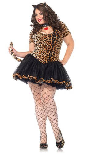 Leg Avenue 83798X - Tantalizing Tabby Kostüm Set, Übergröße 44, Leopard (Übergröße Kostüm Leopard)