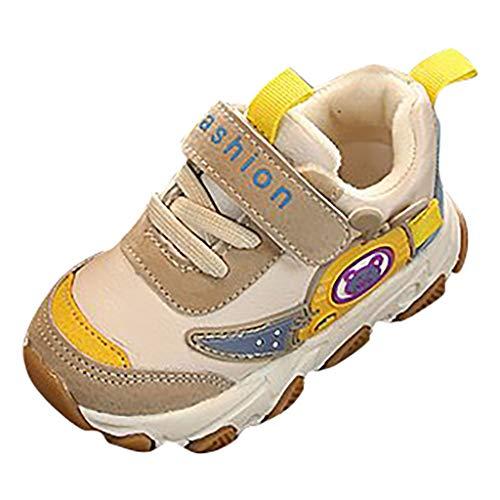 Cuteelf Kinder Sportschuhe Mädchen Jungen komfortable warme Mischfarbe Bannfarbe Klett Jungen und Mädchen Sportschuhe Kinder Schuhe Sportschuhe Ultraleicht Atmungsaktiv
