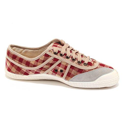 Kawasaki 34024 Sneaker New Basic 23 whitout Box Scarpa Donna Shoes Women bordeaux/bianco/beige