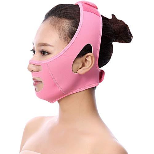 FCXBQ Gesicht Bandage, Gesicht Abnehmen Maske Gesicht V Shaper Face-Lift-Verband Slimming Mask Aufzug V-Gesichtslinie Bandagen abnimmt,Pink