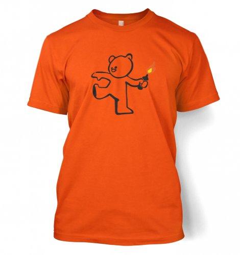 Teddybär Bombenleger Banksy Männer T-Shirt Orange