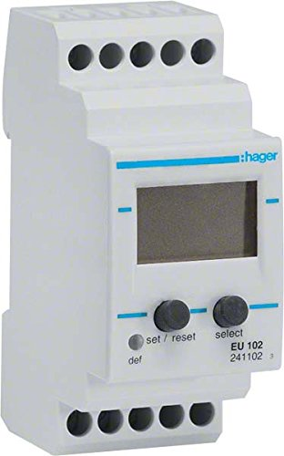 Hager–EU102–Relais Kontrolle Überspannungsschutz einphasig 15–480VAC/15–700VCC