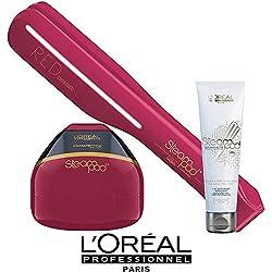 Steampod Edition limitée Red Obsessed L'Oréal - Fer à lisser nouvelle génération + Soin cheveux fins (prise française)