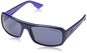 Emporio Armani Herren EA 9665/S Wayfarer Sonnenbrille, Deep Blue Frame / Blue Gradient