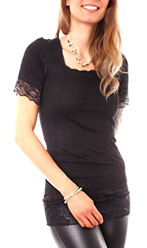 Easy Young Fashion - T-shirt - Femme Noir