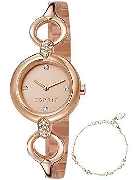 Esprit Uhr ES107332002 -1 Naomi Schönes GeschenkSet Inkl. Armband Rose Gold