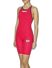 ARENA Maillot de bain (dos ouvert) Carbon Pro Full Body pour Femme, Rouge, 61cm