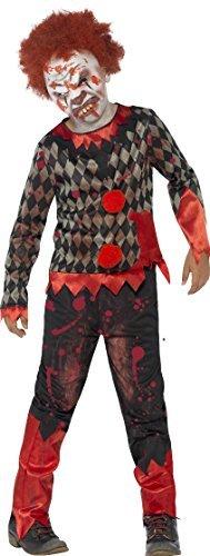 Für Unheimliche Jungen Kostüm - Jungen Unheimlich Deluxe Zombie Clown Halloween Kostüm Mit Maske Und Haare Größe M Ages 7 bis 9 Jahre