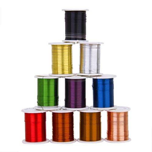 ROSENICE Kupferdraht Schnüre Schmuckdraht Schmuckfaden Faden 0,3 mm - 10 Stücke