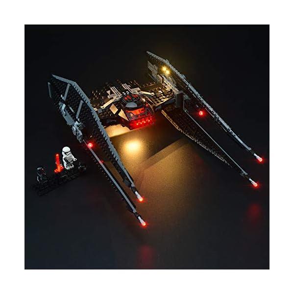 LIGHTAILING Set di Luci per (Star Wars Kylo Ren's Tie Fighter) Modello da Costruire - Kit Luce LED Compatibile con Lego… 2 spesavip