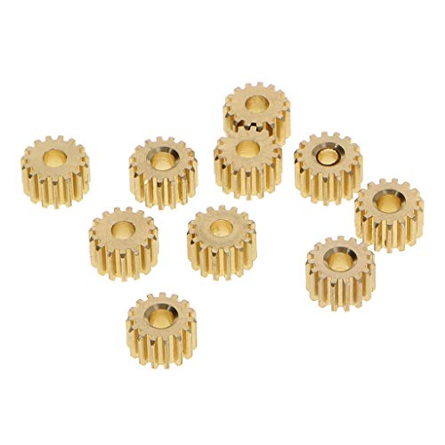 Lamdoo 10 Stück Metall Zahnrad 12 Zähne 0,5 Form Innenloch 3 mm DIY Modell Spielzeug Zubehör