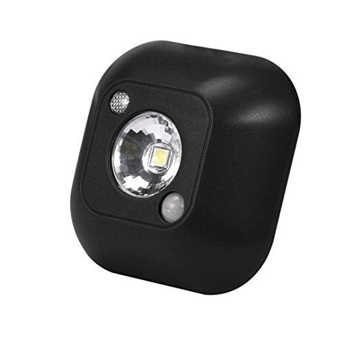 Drahtlose LED-Sensorlicht,Jaminy Lichtsensor Mini LED funky Nachtlicht Motion Sensor Licht Wand not Nacht Lampe Super Empfindlichkeit innerhalb von 3 Meter Entfernung [Energieklasse A+] (Schwarz) (Licht Ball-womens)