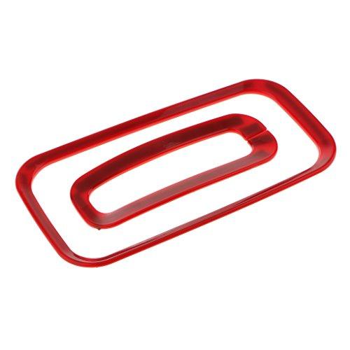 Homyl 1 Stück Emblem Mittelkonsole Box Schaltknauf Rahmen Blende Abdeckung Auto Zubehör - Rot