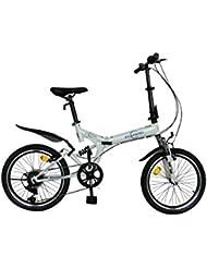 "ECOSMO 20"" Folding Mountain Bicycle Bike 6SP SHIMANO-20SF02W"