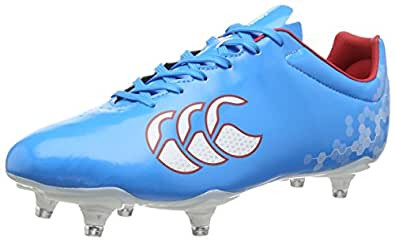 Canterbury Speed Club 6 Stud, Chaussures de Rugby homme, Bleu (Dresden Blue), 42 EU