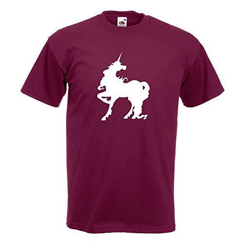 KIWISTAR - Einhorn T-Shirt in 15 verschiedenen Farben - Herren Funshirt bedruckt Design Sprüche Spruch Motive Oberteil Baumwolle Print Größe S M L XL XXL Burgund