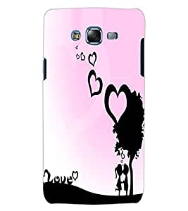 ColourCraft Love Hearts Design Back Case Cover for SAMSUNG GALAXY J5
