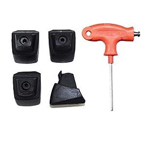 der-rollenshop Stopper (4 Stück) für K2 Inlineskates inklusive Tool/Werkzeug