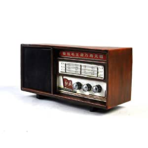 modele poste radio fait main metal vintage ancien marron cadeau deco cuisine maison. Black Bedroom Furniture Sets. Home Design Ideas