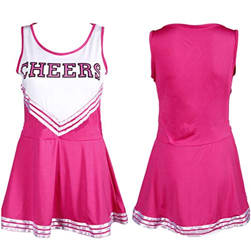 ZYUNYUN Cheerleader Kostüm Outfit Uniform High School Musical Sexy Dessous Weibliche Cheerleading Uniformen Performance Kleidung, Extra Large,D,XXL