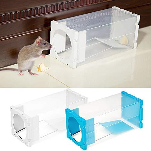 Cuigu Wurstffalle Rattenfalle Rattanfalle Tiermäuse, Nagetierschreck, Köderfalle Transparent, zufällige Farbauswahl