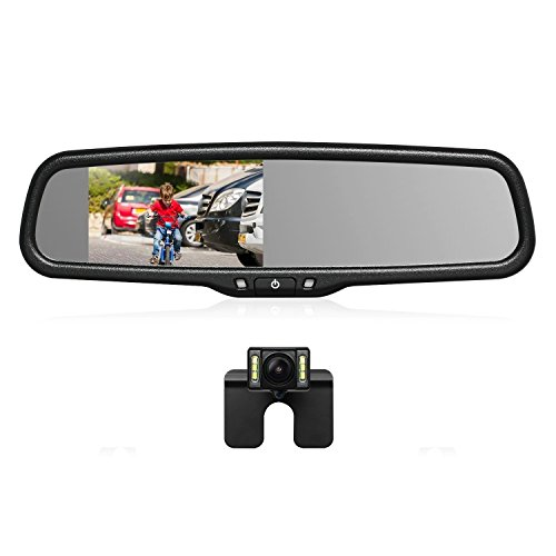 "4.3/"" LCD Monitor Car Camera Rear View Backup Parking Reverse Kit Night Vision"